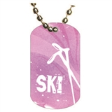 Skiing Dog tag