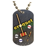 Croquet Dog tag