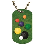 Bocce Ball Dog tag