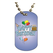 Birthday Dog tag