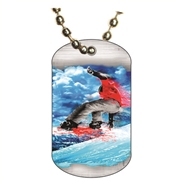 Snowboarding Dog tag