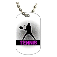 Tennis Dog tag