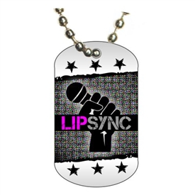 Lip Sync Dog tag