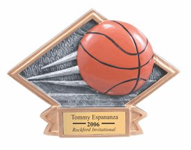 Basketball Sculpted Resin Trophy