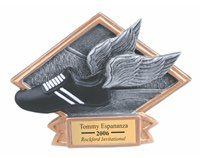 Track Sculpted Resin Trophy