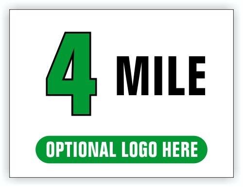 Race Distance Marker Sign 4 Mile