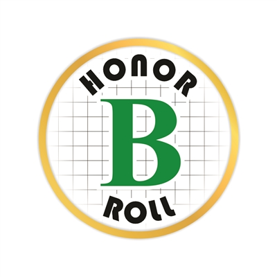 B Honor Roll Pin
