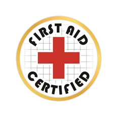First Aid Certified Pin