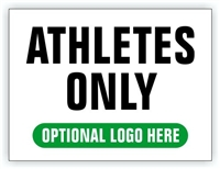 Event Registration Area Sign | Athletes Only