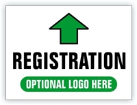 Event Registration Area Sign | Registration Directional