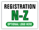 Event Registration Area Sign | Registration N-Z