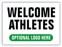 Event Registration Area Sign | Welcome Athletes