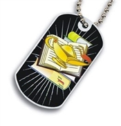 Lamp of Knowledge Dog tag