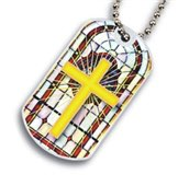 Religious Cross Dog tag