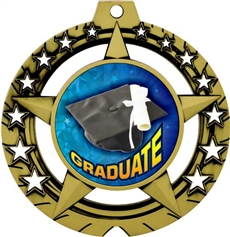 2.5 5th Grade Graduation Prizes Kids Graduate Trophy Medal Awards Prime Graduation Red Trellis Medal Silver