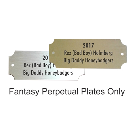 Printed Plates for ​Fantasy Football Awards