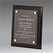 Black Piano Finish Floating Acrylic Plaque