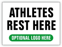 Race Finish Area Sign - Athletes Rest Here