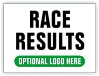 Race Finish Area Sign - Race Results