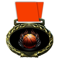 Basketball Medal in Jam Oval Insert | Basketball Award Medal