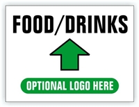 Race Event I.D. & Information Sign | Food Drinks Directional