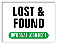 Race Event I.D. & Information Sign | Lost & Found