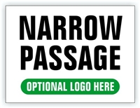Race Event I.D. & Information Sign | Narrow Passage