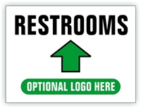 Race Event I.D. & Information Sign | Restrooms Directional