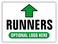 Race Event I.D. & Information Sign | Runner Directional