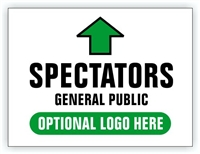 Race Event I.D. & Information Sign | Spectator and General Public Directional