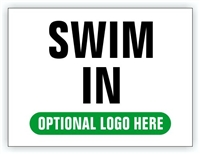 Race Event I.D. & Information Sign | Swim In