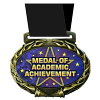 Academic Acheivement Medal in Jam Oval Insert | Reading Award Medal