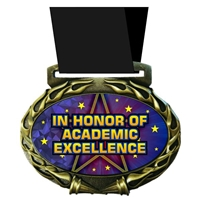 Academic Excellence Medal in Jam Oval Insert | Reading Award Medal