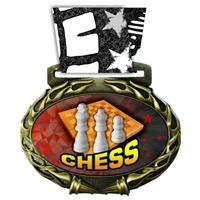 Chess Medal in Jam Oval Insert | Chess Award Medal