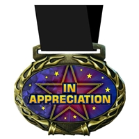 Appreciation Medal in Jam Oval Insert | Appreciation Award Medal