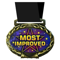 Most Improved Medal in Jam Oval Insert | Most Improved Award Medal