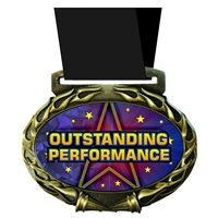 Outstanding Performance Medal in Jam Oval Insert | Outstanding Performance Award Medal