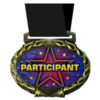 Participant Medal in Jam Oval Insert | Participant Award Medal
