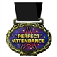 Perfect Attendance Medal in Jam Oval Insert | Perfect Attendance Award Medal