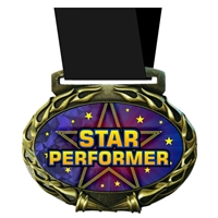 Star Performer Medal in Jam Oval Insert | Star Performer Award Medal