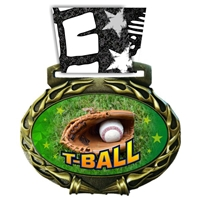 T-Ball Medal in Jam Oval Insert | T-Ball Award Medal