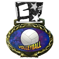 Volleyball Medal in Jam Oval Insert | Volleyball Award Medal
