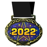 Year Medal in Jam Oval Insert | Year Award Medal
