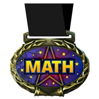 Math Medal in Jam Oval Insert | Math Award Medal