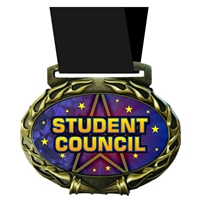 Student Council Medal in Jam Oval Insert | Student Council Award Medal
