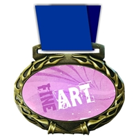 Fine Art Medal in Jam Oval Insert | Fine Art Award Medal