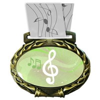 Music Medal in Jam Oval Insert | Music Award Medal