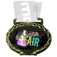 Science Medal in Jam Oval Insert | Science Award Medal