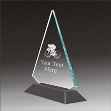 Pop-Peak biking acrylic award