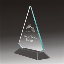 Pop-Peak bowling acrylic award
